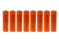 Panasonic Eneloop 4th generation 8 Pack AA NiMH Pre-Charged Rechargeable Batteries -FREE BATTERY HOLDER- Rechargeable 2100 times, Orange