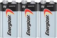 Energizer MAX Alkaline Batteries, 9V, 3 Batteries/Pack