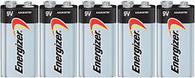1604LC Energizer Max  9 Volt E522 1604 Alkaline Batteries 5 pk.
