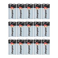 1604D Energizer Max 9V 9 Volt Alkaline Batteries x 15