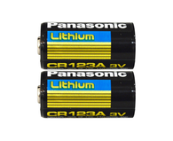 Panasonic CR123A 3V Long Lasting Lithium Batteries - 2 Pack