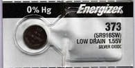 Energizer 373 Silver Oxide watch battery 1 pc. (Each)