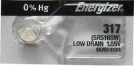 Energizer 317 Button Cell Silver Oxide SR516SW Watch Battery