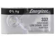 Energizer 337 SR416SW SR416 SILVER OXIDE watch battery 1pc (Each)