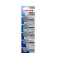 1 Card: 5pcs Tenergy CR2025 Lithium Button Cells