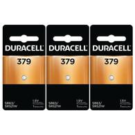 Duracell AG0 379A LR63 SR63 LR521 Button Cell Batteries 3 pc.