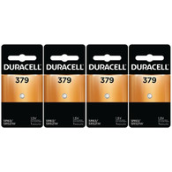 4 Duracell 379 Watch and Calculator Batteries