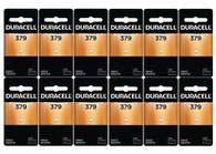 12-Pack Duracell 379 flashlight Batteries 1.5 Volt Silver Oxide Coin Button