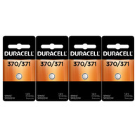 370 371 Duracell Silver Oxide Watch / Electronic Battery 4 Pcs