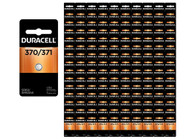 150-Pack Duracell 370/371 Batteries 1.5 Volt Silver Oxide Coin Button Batteries - Wholesale