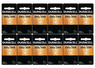 12-Pack Duracell 395/399 Batteries 1.5 Volt Silver Oxide Coin Button