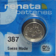 Renata  387S Low-Drain 1.55V Silver-Oxide Button Cell Battery
