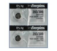 Energizer 393 / 309 / SR754W Silver Oxide Button Battery