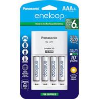 Panasonic KKJ17M3A4BA / K-KJ17M3A4BA eneloop Rechargeable AAA Batteries with Charger - 4 Pack