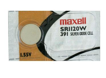 Maxell Sr1120w 391 55mah 1 55v Silver Oxide Button Cell