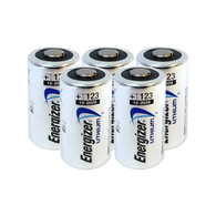 Energizer Lithium-Based CR123A 5 pack
