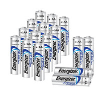 Energizer L91 AA Ultimate Lithium Batteries, 16 Pack