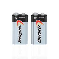 Energizer Max Alkaline 9 Volt Battery 522, 2-Count