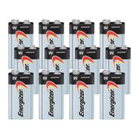 Energizer Max 9V Alkaline Battery, 12 bulk