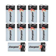 10 Energizer Max 9V Alkaline Batteries