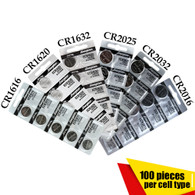 Assorted Lithium 3V Audio Shop cr1616, cr1620, cr1632, cr2032, cr2025, cr2016 Battery