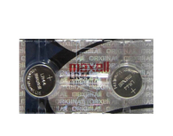 2 Maxell button Cell Watch Batteries LR44 AG13 A76