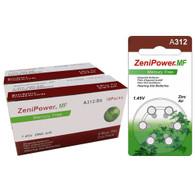 Zenipower Size A312 Mercury Free Hearing Aid Batteries, 120 pcs