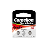 2pcs AG2 Camelion (396, 397 & LR726) Button Batteries