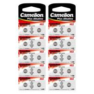 20 Pk Camelion AG2 396 LR726 SR59 1.5V Alkaline Button Cell Watch Battery