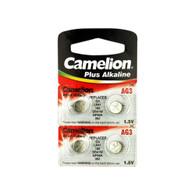 4pcs Camelion AG3 / 392 / LR41 1.5V Button Cell Battery