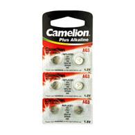Camelion LR736 - AG3 - D392 - 1.5 V Alkaline Button Cell Battery 6 Pack