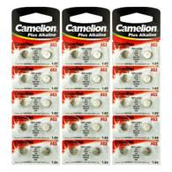30 x AG3 Button Batteries also known as 384 392 192 LR41 LR736 L736 GP192 V36A 1.5 volt alkaline by Camelion