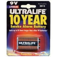 9-Volt - Ultralife Batteries 10 year Expires 2020