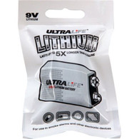 2 pack Ultralife 9V Lithium Battery Foil Pack, EXPIRES 2024
