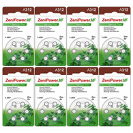 48 ZeniPower Hearing Aid Batteries Size: 312