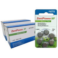 ZeniPower Batteries Zinc Air 1.4V Size 675, Mercry Free (126 Batteries)