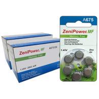 ZeniPower Batteries Zinc Air 1.4V Size 675, Mercry Free (126 Batteries)