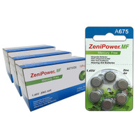 ZENIPOWER (180 QTY) Size A675/D6 Power1.45v Mercury Free Hearing Aid Batteries
