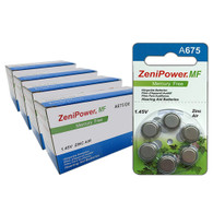 ZeniPower Batteries Size A675 Zero Mercury (240 Batteries)