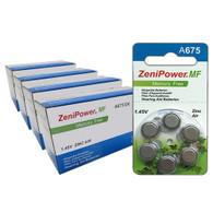 ZeniPower Batteries Size A675 Zero Mercury (240 Batteries)