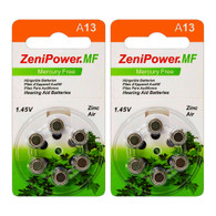 A13 ZA13 Size13 PR48 Zinc Air Hearing Aid Battery (12 Batteries)