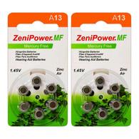 A13 ZA13 Size13 PR48 Zinc Air Hearing Aid Battery (12 Batteries)