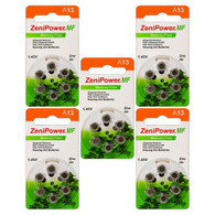 30 x Size 13 ZeniPower Hearing Aid Batteries