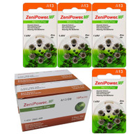 Zenipower Size A13 Mercury Free Hearing Aid Batteries, 144 pcs.