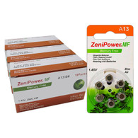 ZeniPower Size A13 PR48 Mercury Free Hearing Aid Batteries Pack of 180