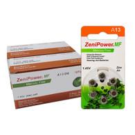ZeniPower 13 Size Hearing aid batteries Zinc air PR48 A13 Mercury free Value 126pcs