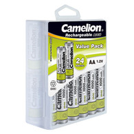 Camelion AA Ni-Cd Solar Light Batteries 1000mAh 24 pack