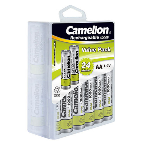 Camelion Aa Ni Cd Solar Light Batteries 1000mah 24 Pack