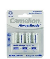 Camelion AA Rechargeable Batteries Ni-MH 2100mAH 4 Pk