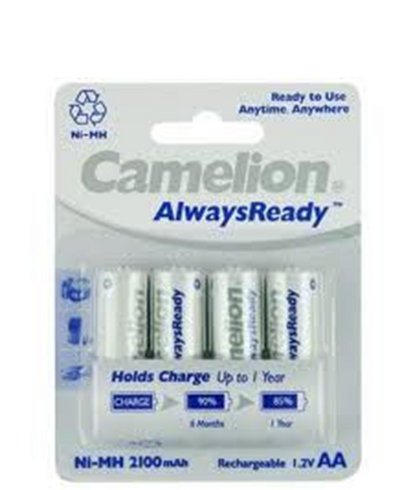 Camelion Aa Rechargeable Batteries Ni Mh 2100mah 4 Pk